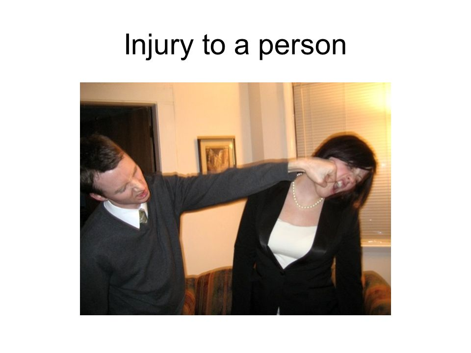 Injury to a person