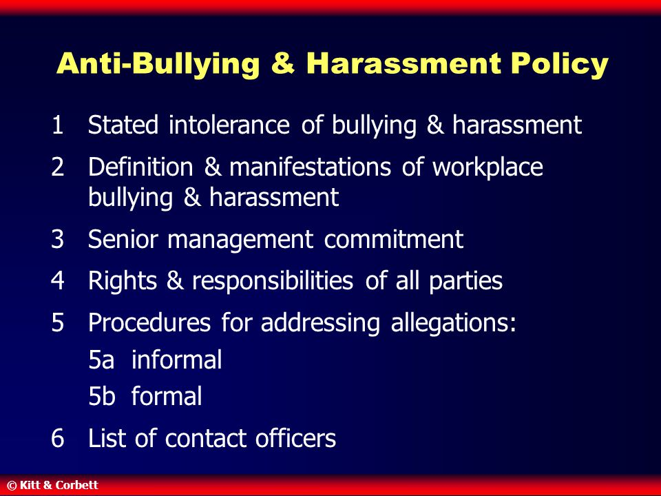 Anti-Bullying & Harassment Policy