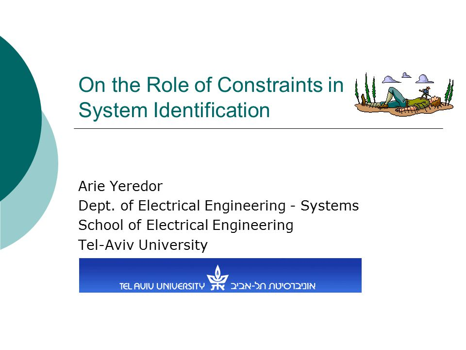 On the Role of Constraints in System Identification