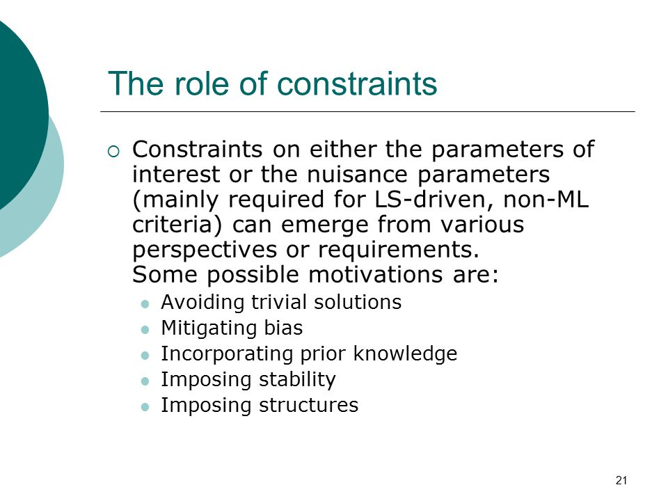 The role of constraints