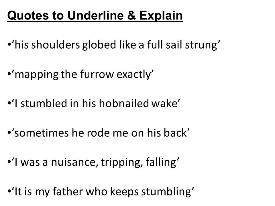 Quotes to Underline & Explain