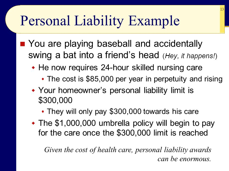 Personal Liability Example