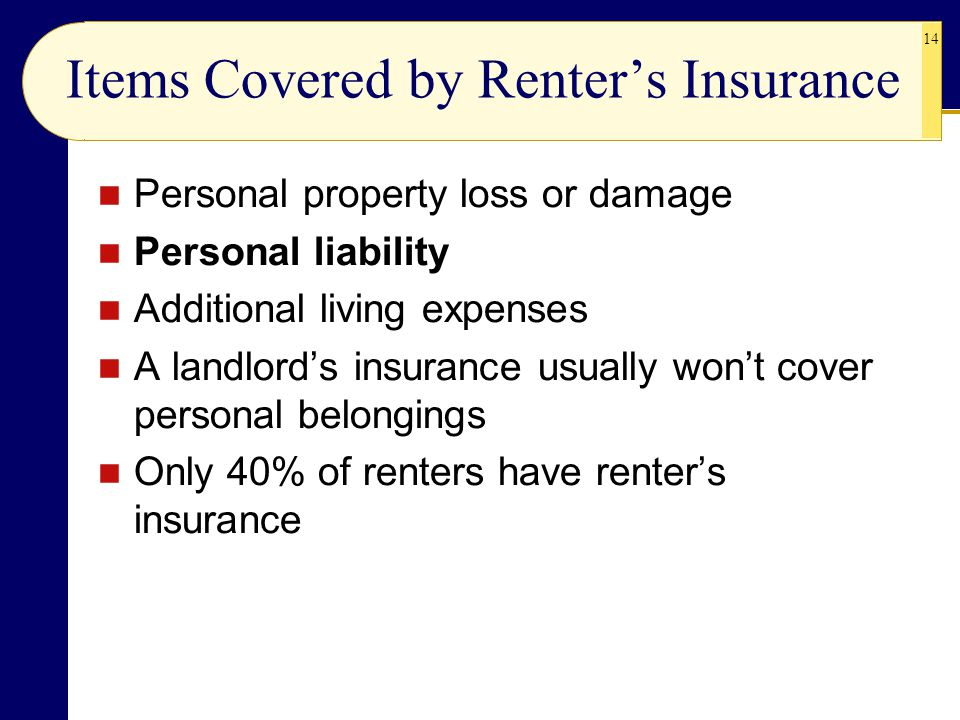 Items Covered by Renter's Insurance