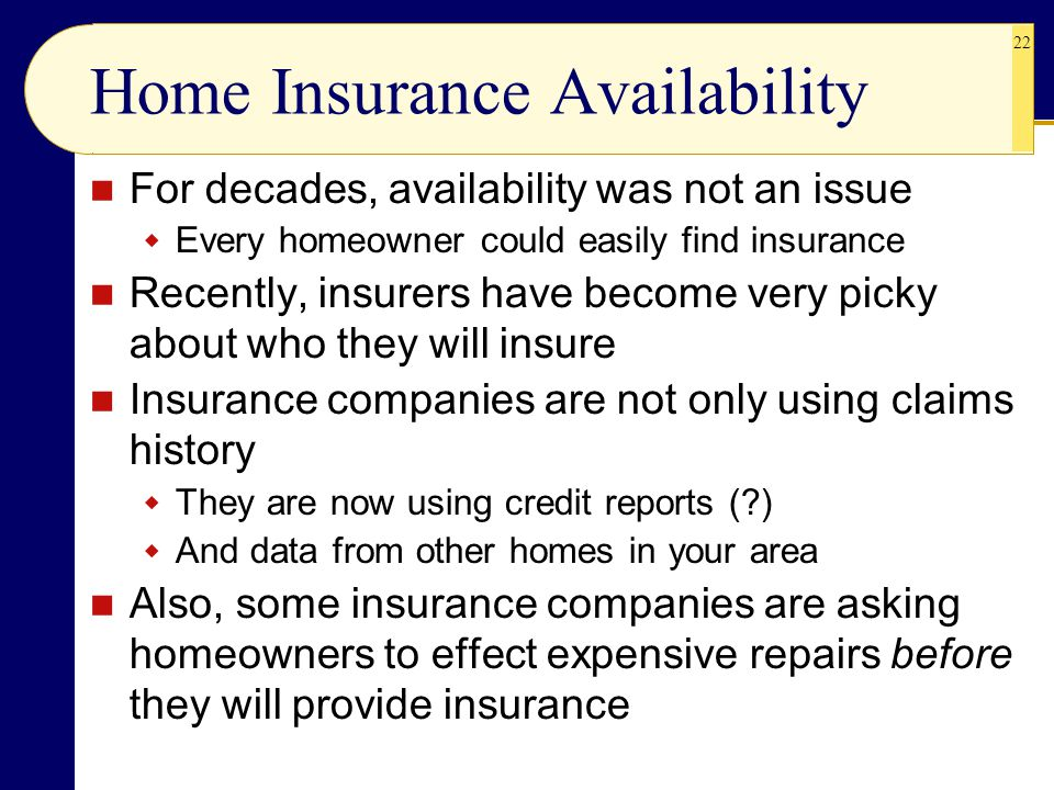Home Insurance Availability