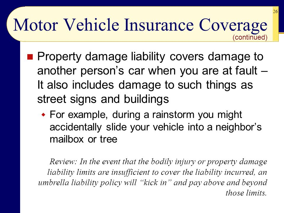 Motor Vehicle Insurance Coverage