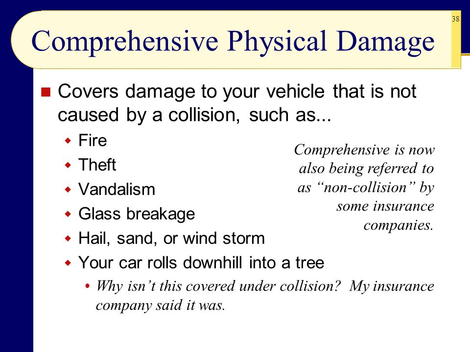 Comprehensive Physical Damage