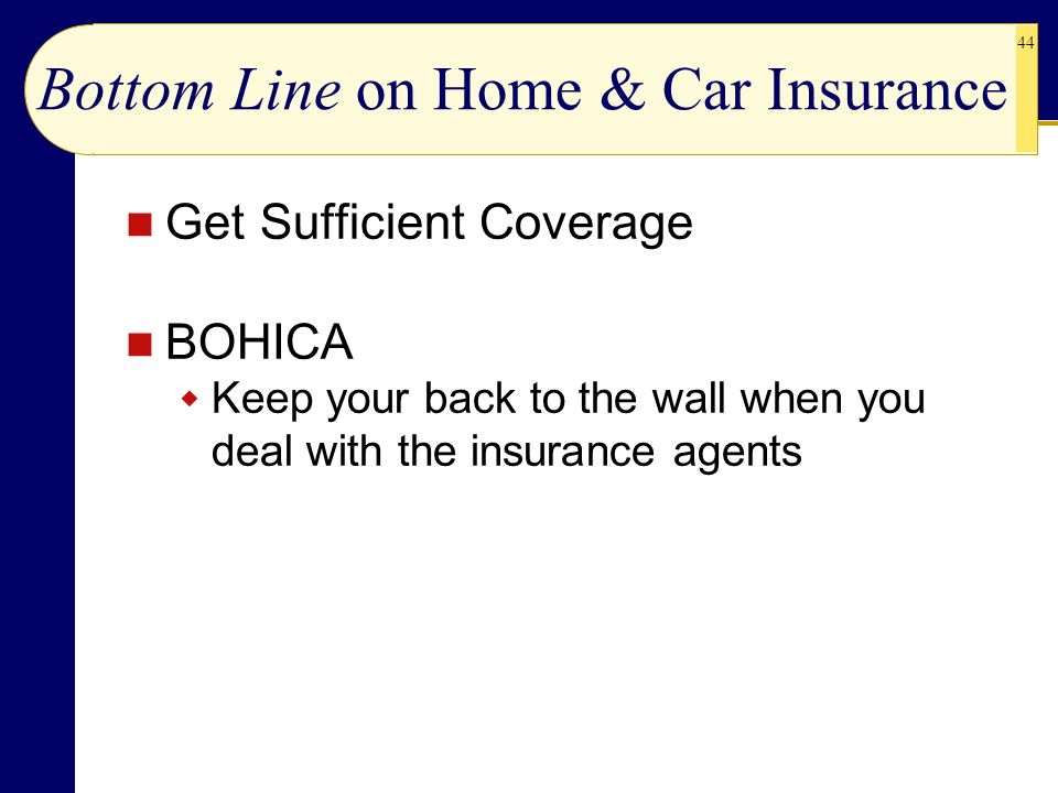 Bottom Line on Home & Car Insurance