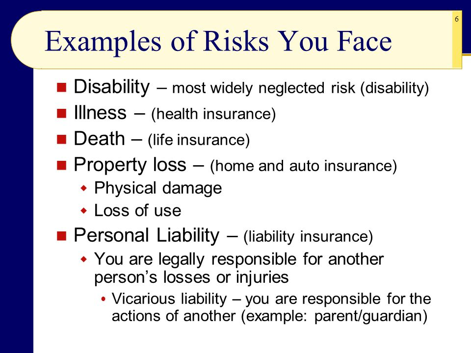 Examples of Risks You Face