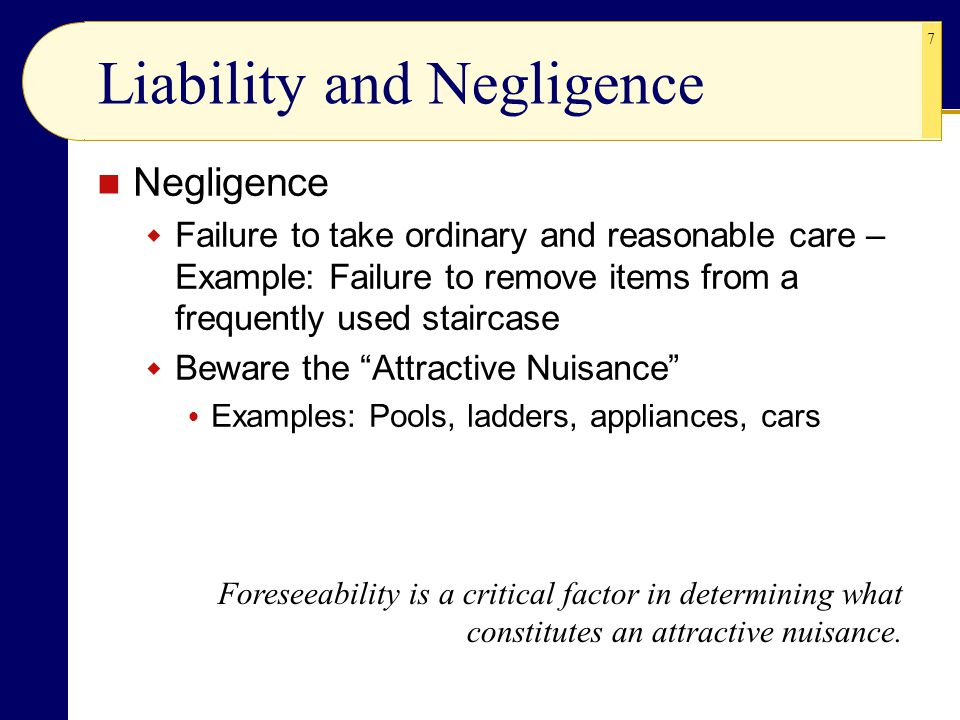 Liability and Negligence