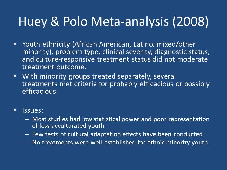 Huey & Polo Meta-analysis (2008)