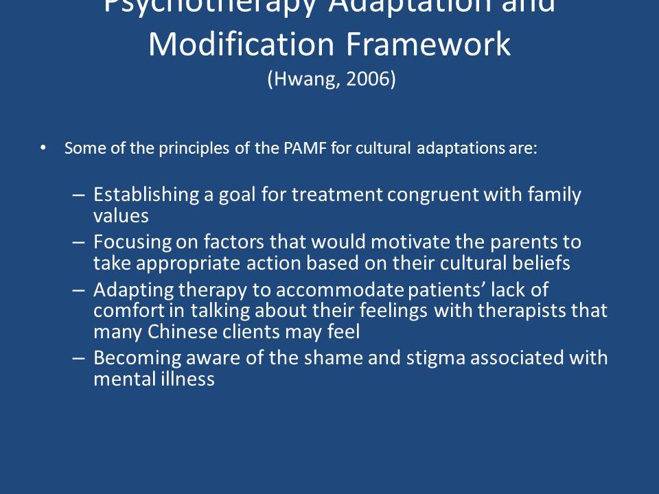 Psychotherapy Adaptation and Modification Framework (Hwang, 2006)