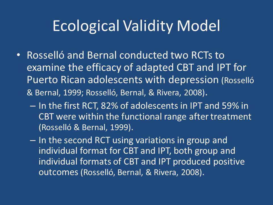 Ecological Validity Model