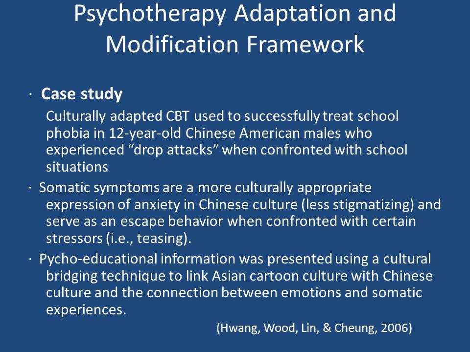 Psychotherapy Adaptation and Modification Framework
