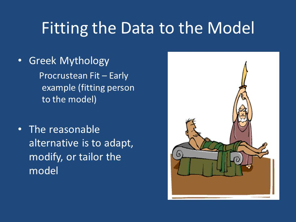 Fitting the Data to the Model