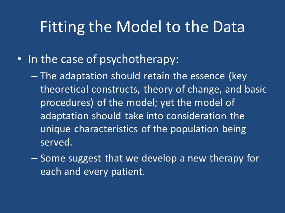 Fitting the Model to the Data