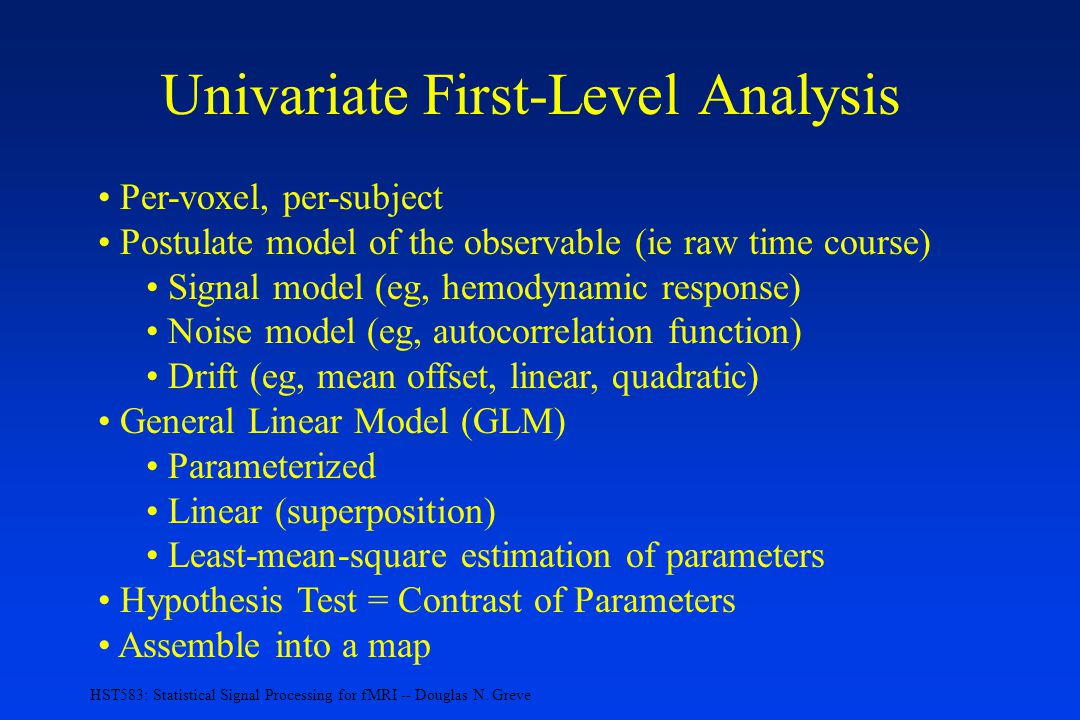 Univariate First-Level Analysis