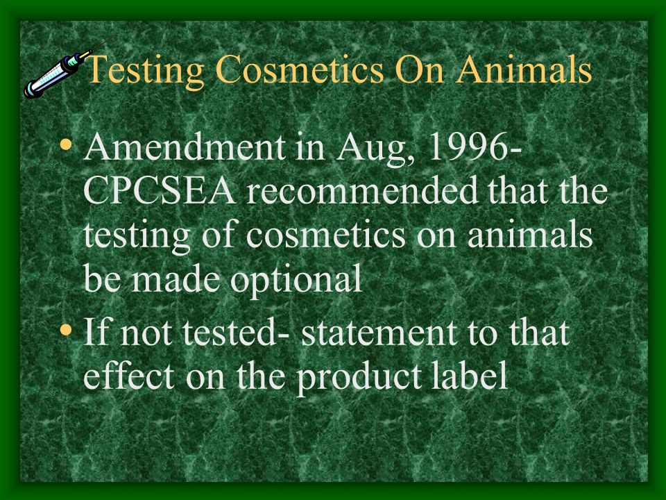 Testing Cosmetics On Animals