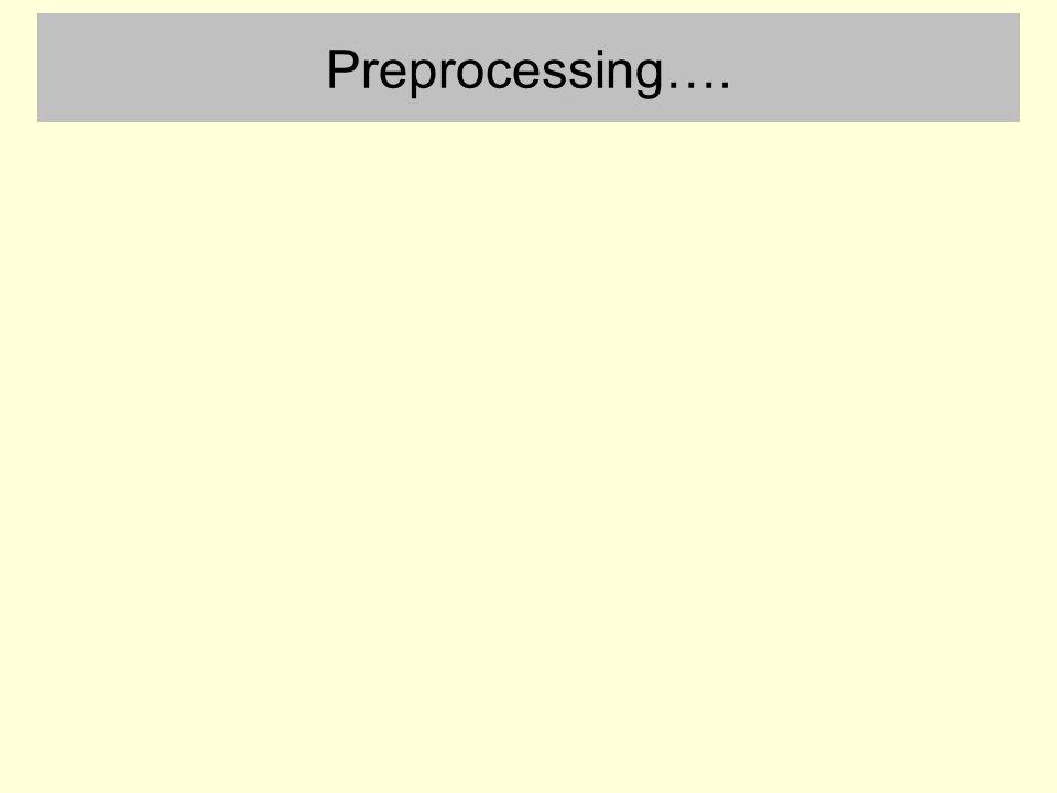 Preprocessing….