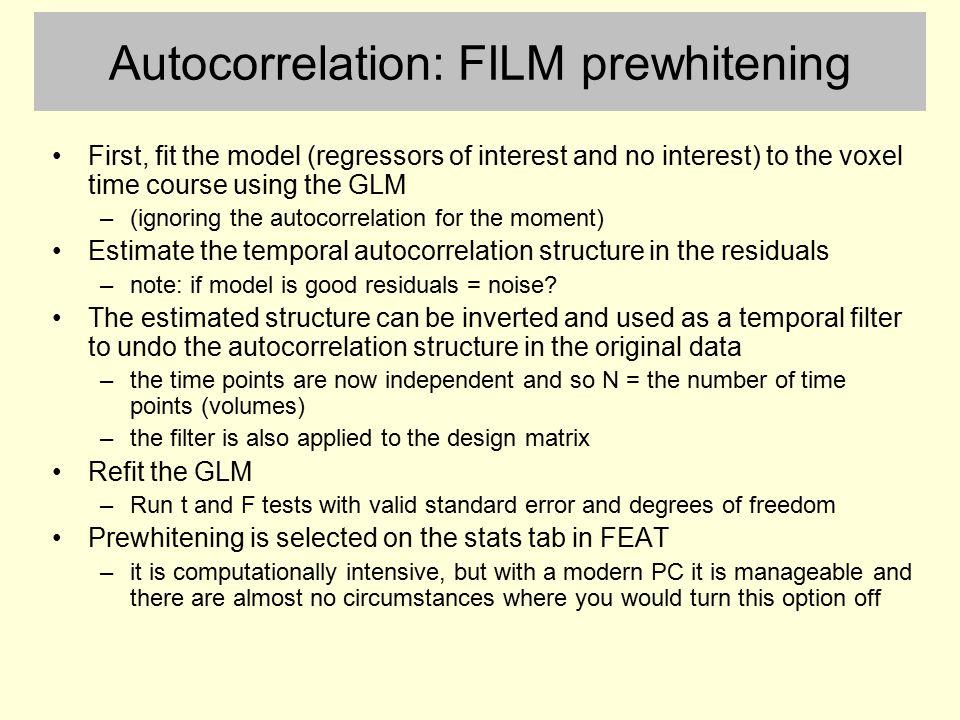 Autocorrelation: FILM prewhitening
