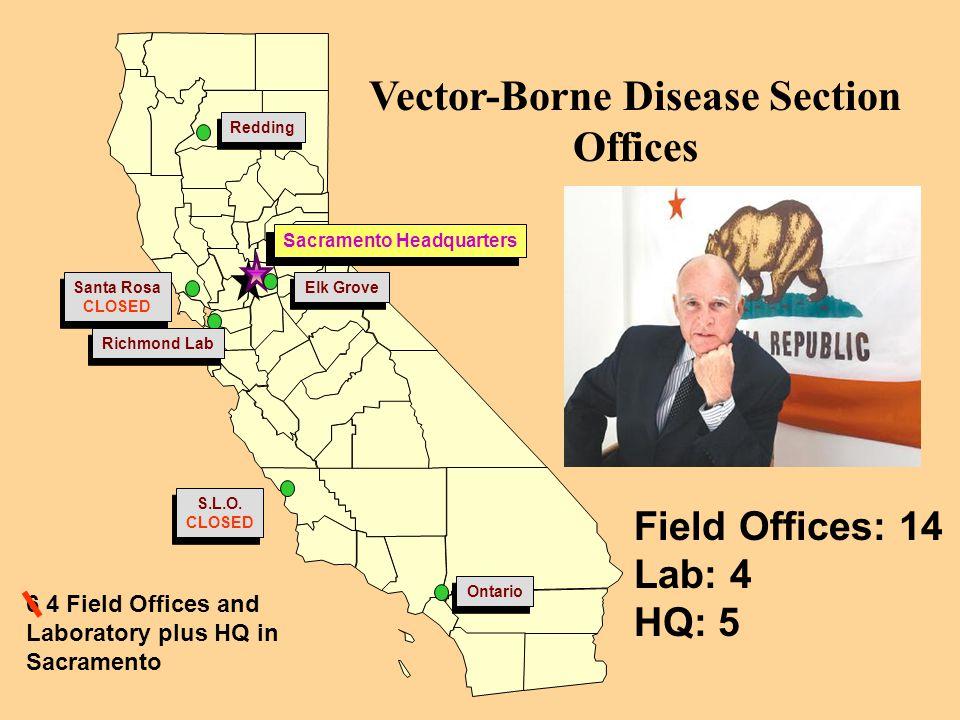 Vector-Borne Disease Section Offices Sacramento Headquarters
