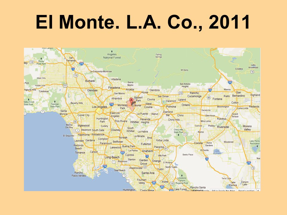 El Monte. L.A. Co., 2011 Continued ovitrap surveillance in 2005 and 2006 detected no more eggs