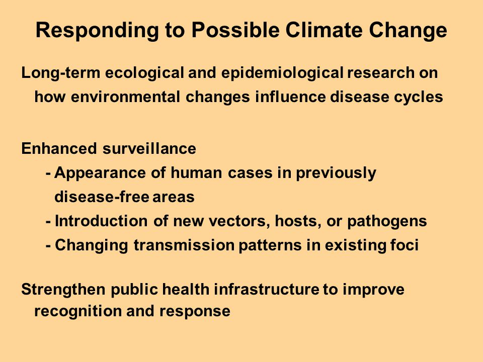 Responding to Possible Climate Change