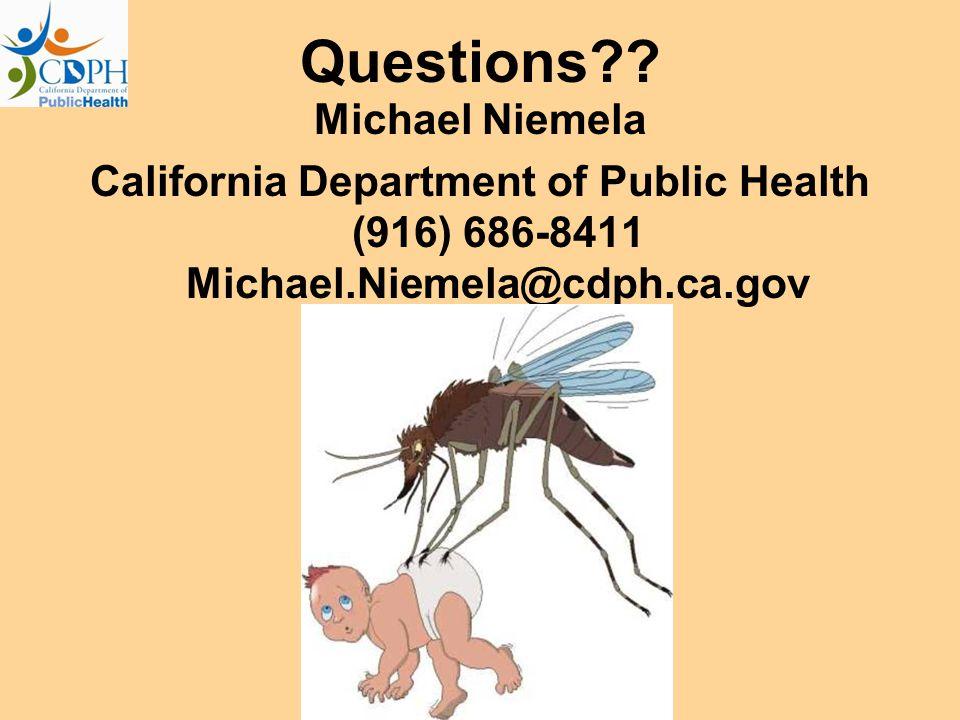 Questions Michael Niemela