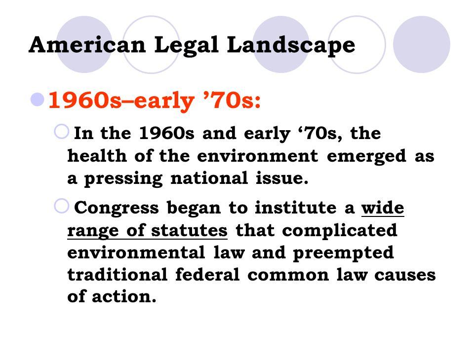 American Legal Landscape