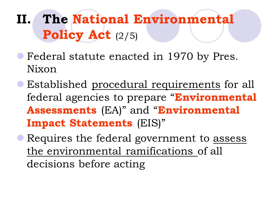 The National Environmental Policy Act (2/5)