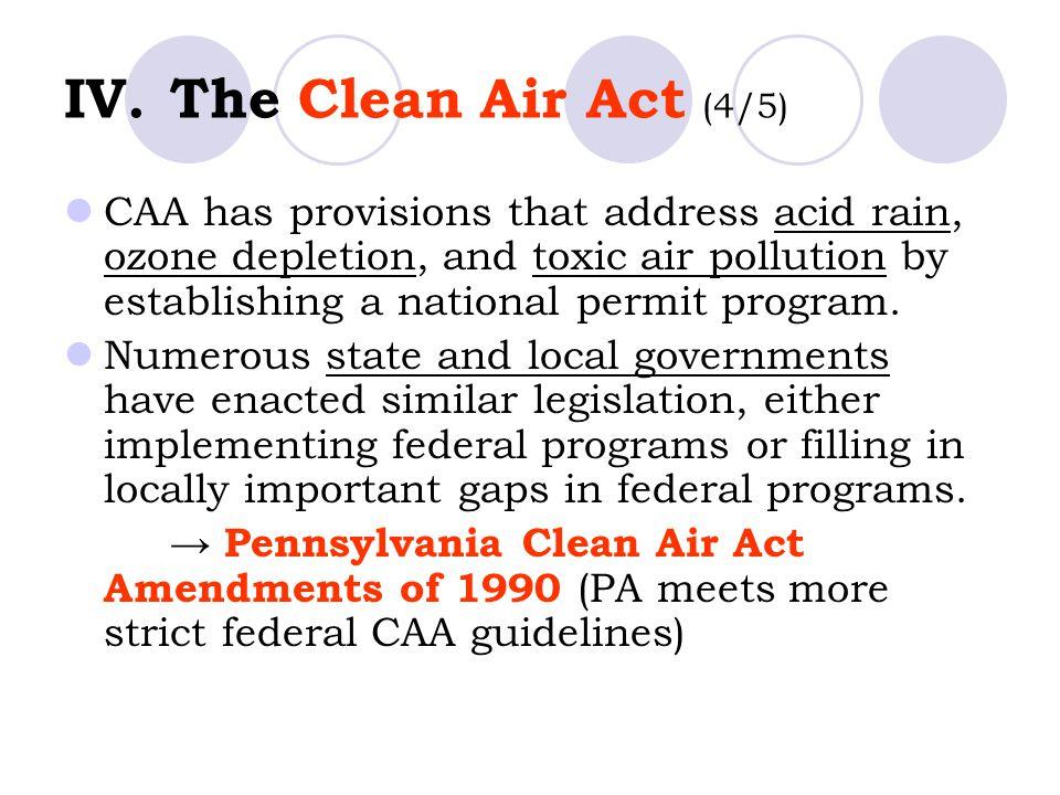 IV. The Clean Air Act (4/5)