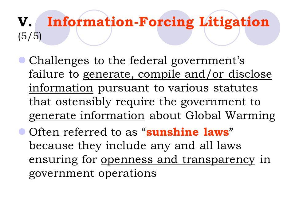 V. Information-Forcing Litigation (5/5)