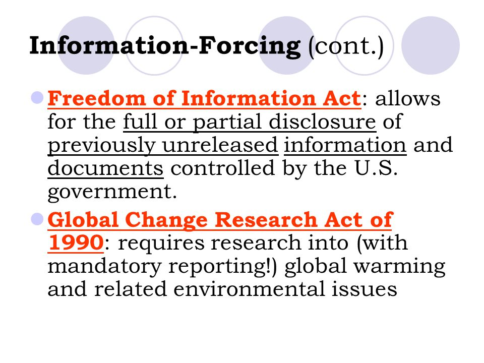 Information-Forcing (cont.)