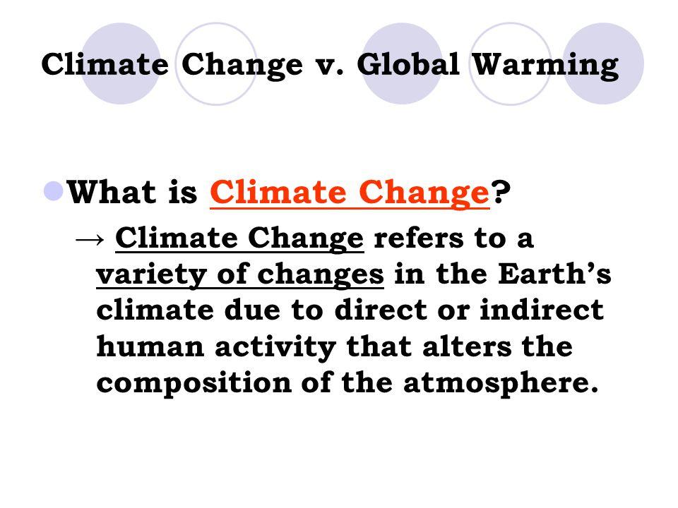 Climate Change v. Global Warming