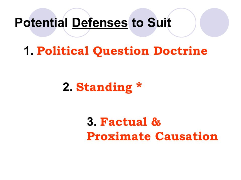 Potential Defenses to Suit