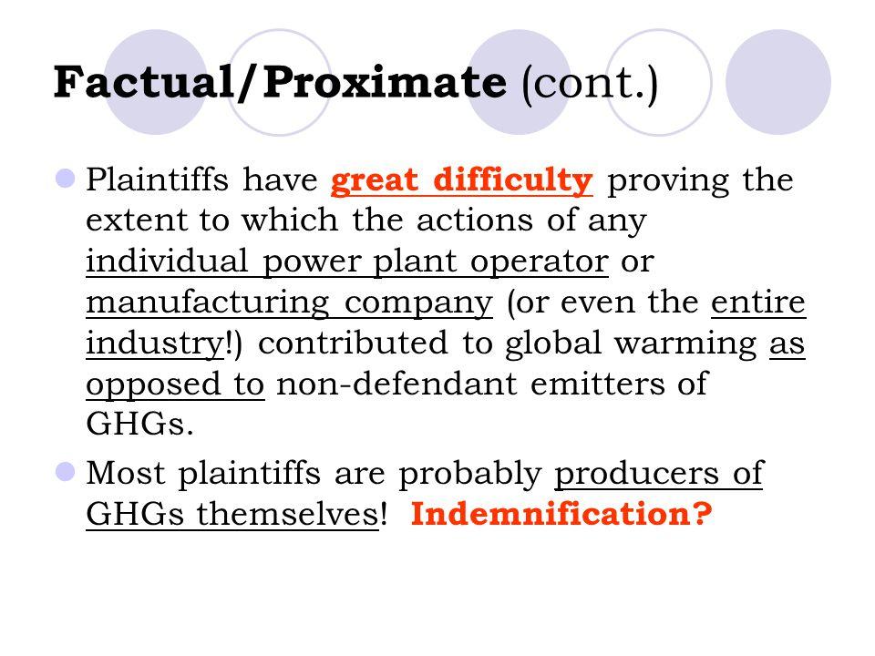 Factual/Proximate (cont.)