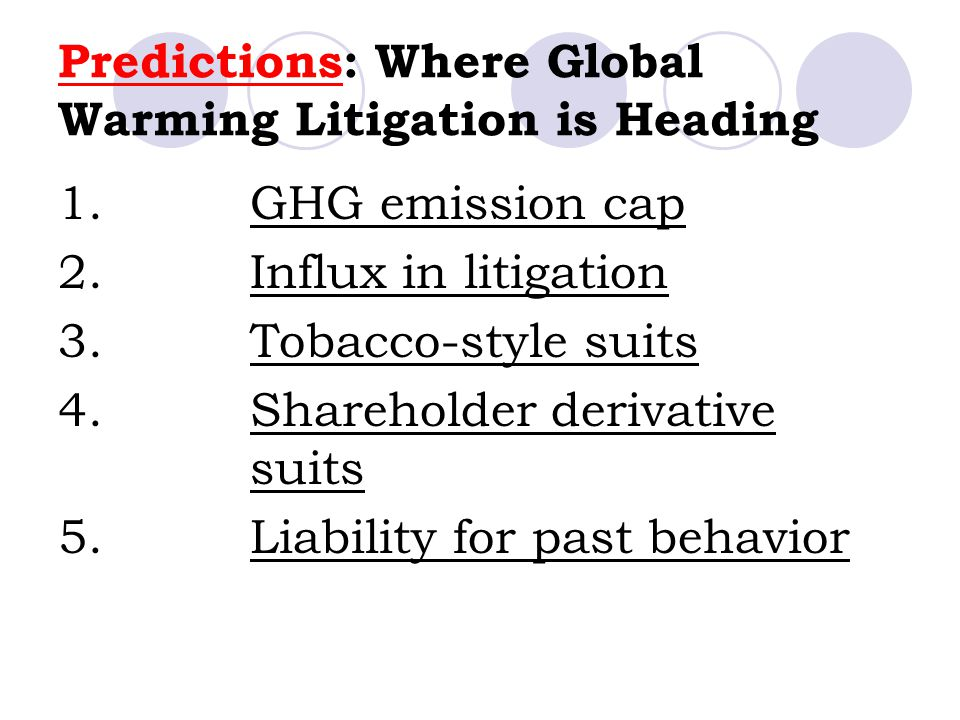 Predictions: Where Global Warming Litigation is Heading