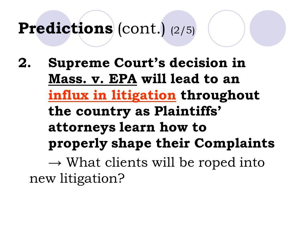 Predictions (cont.) (2/5)