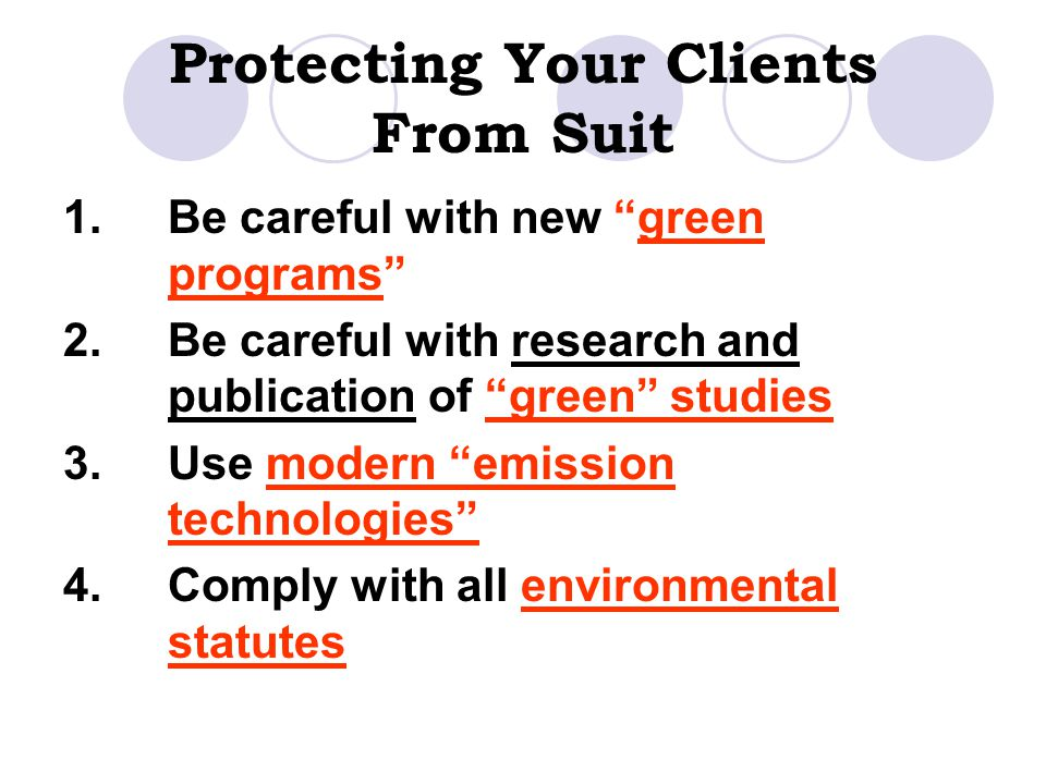 Protecting Your Clients From Suit