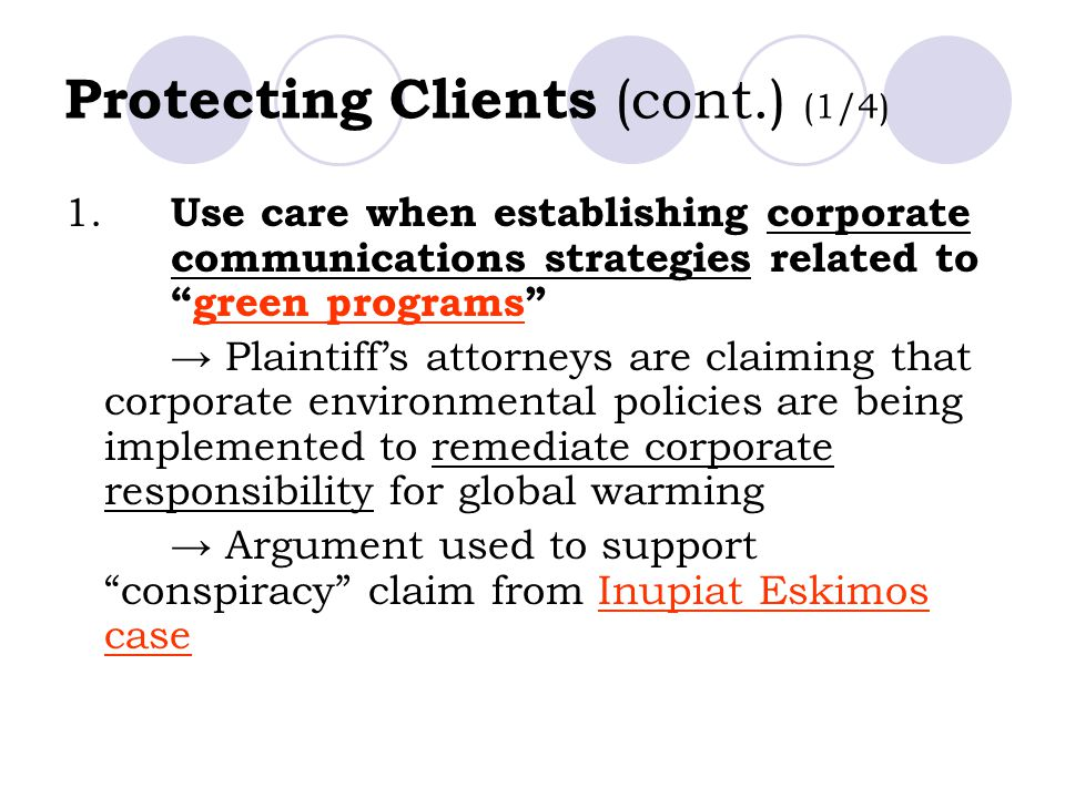 Protecting Clients (cont.) (1/4)