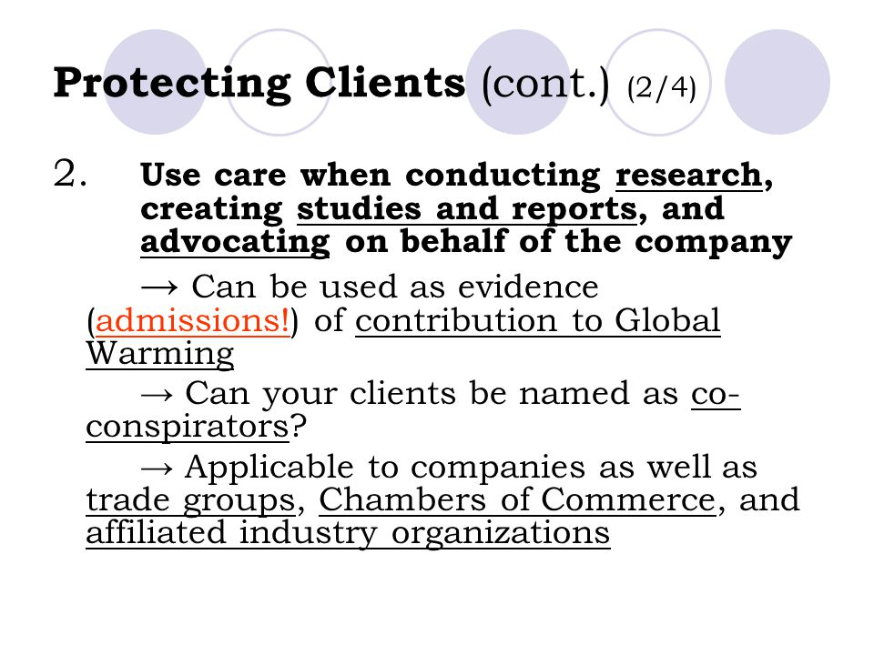Protecting Clients (cont.) (2/4)