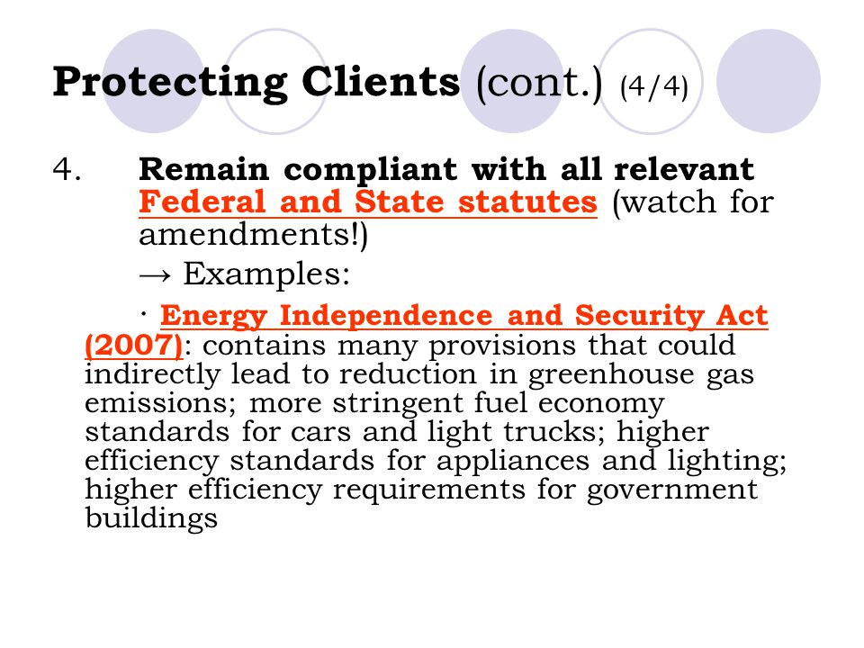 Protecting Clients (cont.) (4/4)