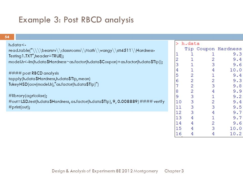 Example 3: Post RBCD analysis