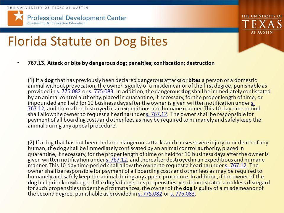 Florida Statute on Dog Bites