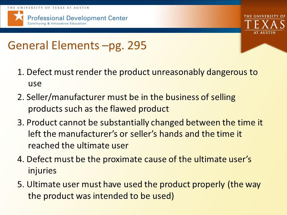 General Elements –pg. 295