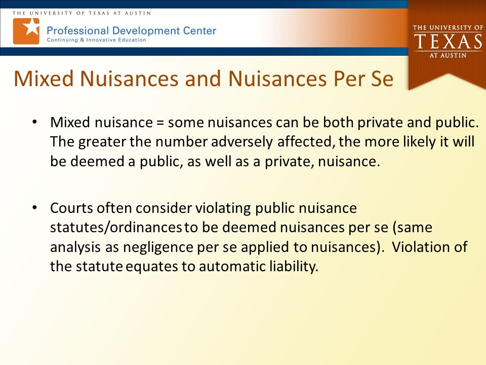 Mixed Nuisances and Nuisances Per Se