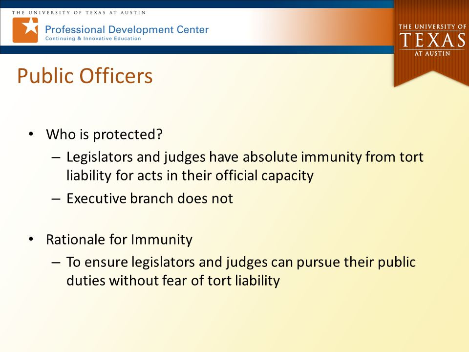Public Officers Who is protected
