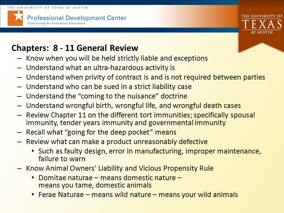 Chapters: 8 - 11 General Review