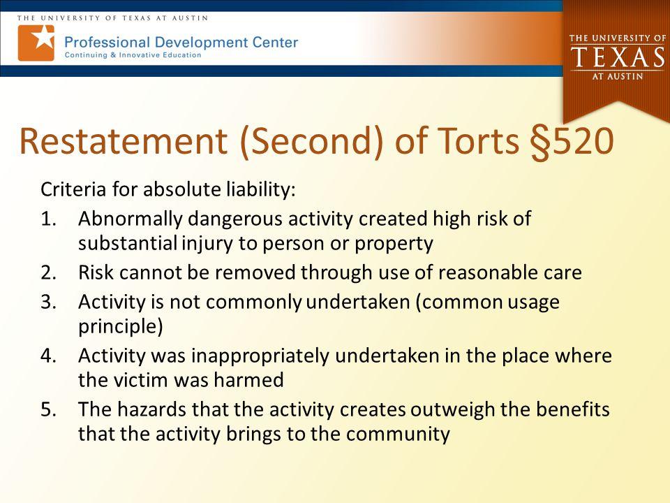 Restatement (Second) of Torts §520