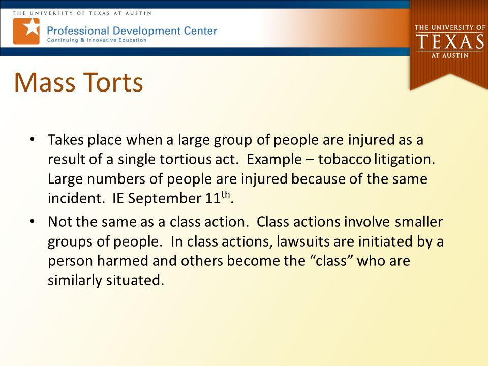 Mass Torts