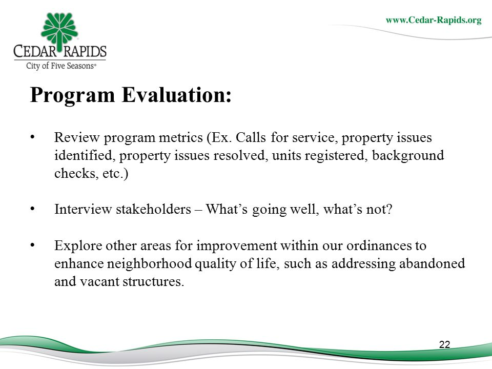 Program Evaluation: